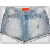 Saia Jeans Mini Plus Size Tamanhos 46 Ao 54