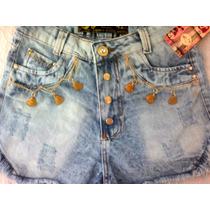 Shorts Feminino Customizado Destroyed Cintura Alta