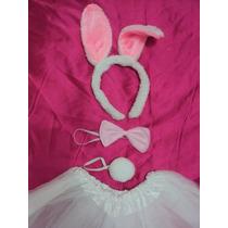Fantasia Bebê Coelha Branca Com Rosa Pronta Entrega
