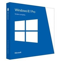 Microsoft Windows 8.1 Professional Full Fpp 64bits Box Novo