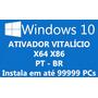 Windows 10 Pro 32 E 64 Bits Pt-br Ativação Vitalícia 99999pc