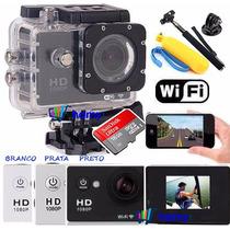 Sports Cam Wifi Prova Dagua Estilo Sj4000 +16gb+ Boia+bastao