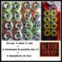 Kit Rodinhas Skate + Rolamentos Abec 13 + Espaçadores Inox.