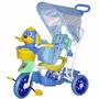 Triciclo Infantil Belfix 3 Em 1 Com Capota Cachorro Azul