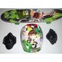 Skate Ben 10 Homem Aranha Personagens Disney Kit Completo