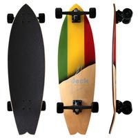Skate Longboard 89cm Truck Invertido 180 Roda Importada 90a