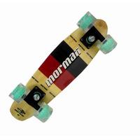 Skate Mini Longboard Penny Retrô Kronik Abec 7 Bambú Mormaii
