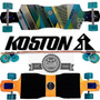 Skate Longboard Cush Truck Invertido 180mm Koston Roda Gel