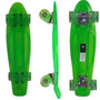 Skate Tipo Acrilico Mini Longboard Abec 7 Rodas Gel Acendem