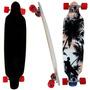 Long Board Skate Completo Shape Rodas Radical Surf Rolamento