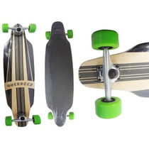 Long Board Skate Completo Shape Rodas Radical Surf Rolamento
