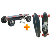 Skate Elétrico 800w + Skate Longboard