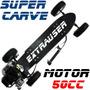 Skate Motorizado Gasolina 50cc Carve Motor Montainboard Abec