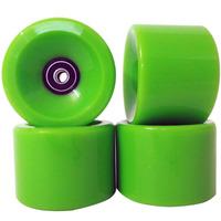 Roda Skate Longboard Kit 4 80mm Rolamento Abec 11 Silicone