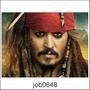 Adesivo De Parede Piratas Johnny Depp Capitão Jack Job0648