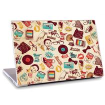 Skin Adesivo Notebook Textura Desenhos Antigos Skdi2297