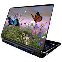 Skin Adesivo Notebook Borboleta Flores Campo Babond Skdi2350