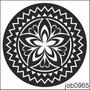 Adesivo Decorativo Parede Mandala Em Preto E Branco Job0965