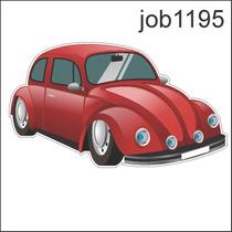 Adesivo Personalizado Fusca Job1195