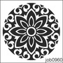 Adesivo Decorativo Parede Mandala Em Preto E Branco Job0960