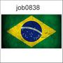 Adesivo Decorativo Brasil Bandeira Job0838