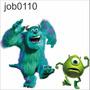 Adesivo Infantil Desenho Monstrossa Mike Sully Susto Job0110