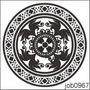 Adesivo Decorativo Parede Mandala Em Preto E Branco Job0967
