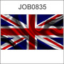 Adesivo Decorativo Reino Unido Bandeira Job0835