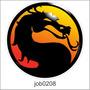 Adesivo Decorativo De Parede Jogo Mortal Kombat 90cm Job0208