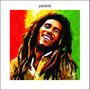 Adesivo Decorativo Parede Cantor Bob Marley Reggae Job0635