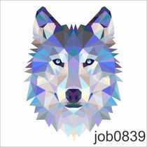Adesivo Lobo Wolf Job0839 Personalizado 1 Metro Fosco