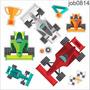 Adesivo Carros Corrida Fórmula 1 Competição Job0814