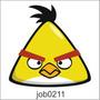 Adesivo Decorativo De Parede Angry Birds Amarelo Job0211