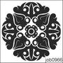Adesivo Decorativo Parede Mandala Em Preto E Branco Job0966