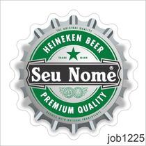Adesivo Tampinha Garrafa Heineken Beer Personalizado Job1225