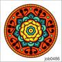 Adesivo Decorativo De Parede Mandala Linda Colorida Job0486