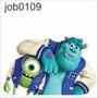 Adesivo Infantil Desenho Filme Monstrossa Mike Sully Job0109