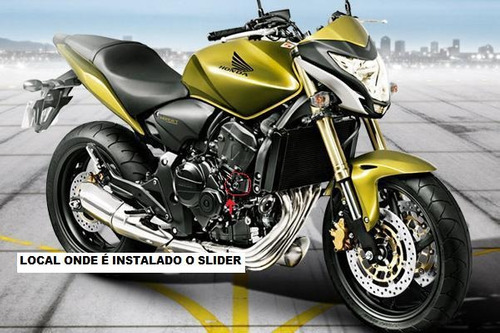 Slider Dianteiro P/ Hornet - Nylon/aluminio 3m Di-noc Carbon