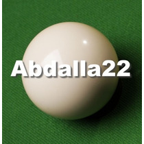 Bola Avulsa Branca Lisa Sinuca Bilhar Snooker 57mm