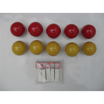 Jogo C/ 10 Bolas Mata-mata 50mm P/ Snooker / Bilhar / Sinuca