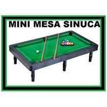 Mini Mesa De Sinuca Bilhar Infantil C/ Tacos E Bolas 45x25cm