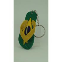 Chaveiro Do Brasil-chinelo Miniatura-souvenir Copa-lindos