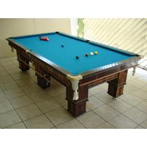 Mesa Sinua Snooker Bilhar Oficial 254 X 127 Ardósia Polida