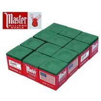 Giz Master Verde 12 Pç Para Tacp De Bilhar Sinuca (10914)