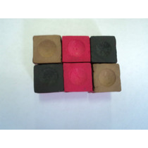 Giz Colorido Importado Para Bilhar/sinuca/snooker Com 06 Und