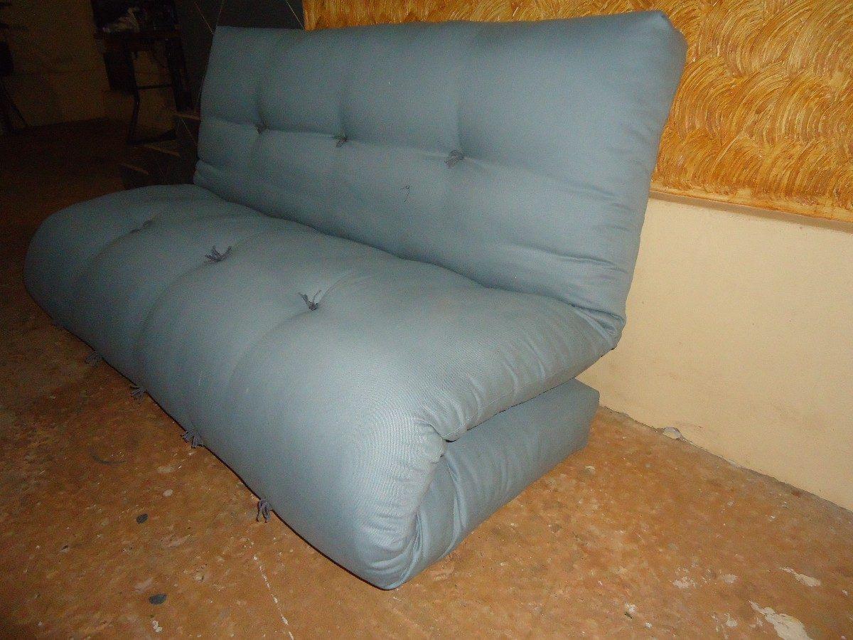 sof cama em futon r 990 00 no mercadolivre ForSofa Cama Tipo Futon