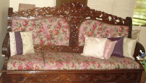 Sof estilo colonial r stico de madeira maci a r no mercadolivre - Sofas estilo colonial ...