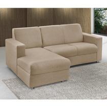 Sofá Com Chaise Esquerdo 2 Lugares Roma Siena Móveis
