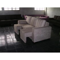 Sofá De 2 E 3 Lugares - Assento Retrátil - Tecido Chenille