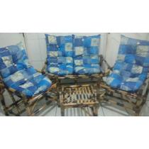 Jogo De Sofá Poltronas/cadeiras Vime/bambu/cana Da Índia